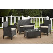 The Range Garden Furniture Cosco Outdoor Jamaica 4 Piece Resin Wicker Patio Conversation Set