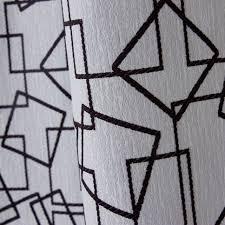 grey energy saving geometric pattern cotton poly blend curtains
