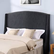 black tufted platform bed with high headboard combined rectangle