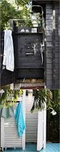 How To Build An Outdoor Shower Enclosure - best 25 outdoor shower fixtures ideas on pinterest outdoor