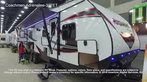 coachmen travel trailer floor plans coachmen adrenaline 31fet youtube
