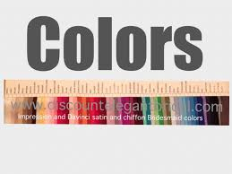 davinci and impression bridesmaid color swatches