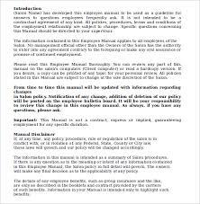 employment manual template 28 images employee handbook