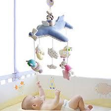 baby crib lights toys shiloh baby crib musical mobile 60 tunes plush pilot light blue