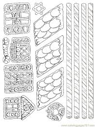 gingerbread house printable free coloring pages on art coloring
