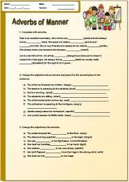 of manner pre intermediate worksheet