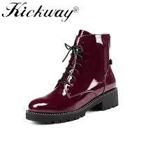 motorcycle booties online get cheap booties leather short flat aliexpress com