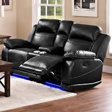 Leather Power Reclining Loveseat Jet Casual Power Reclining Loveseat With Console And Cup Holders