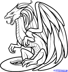 draw a white dragon white dragon step by step drawing sheets added
