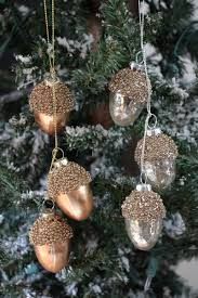 antiqued acorn cluster ornament by raz the patch