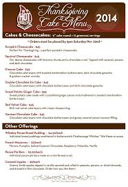 thanksgiving cake menu 2014 the chocolatier