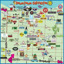map of galveston galveston downtown map island guide magazine