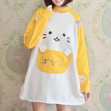 banana sweater japanese neko atsume banana sweater dress sd00742