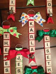 decorations using scrabble tiles cheap trees