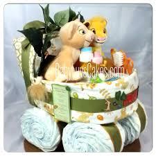 lion king diaper cake twins neutral baby shower plush simba