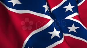 Flag On Fire Confederate Flag Wipe With Alpha Stock Footage 535993