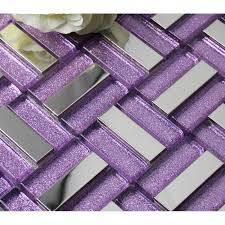 purple kitchen backsplash purple glass mosaic tile 304 stainless steel metal tile