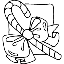 holidays candy cane with preety bow coloring pages coloring sky