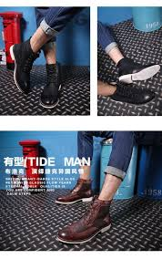 45 men winter boots fur leather men boots fashion ankle boots men