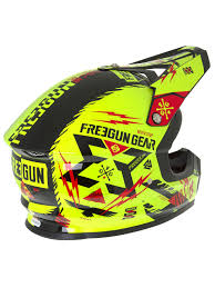 green motocross helmet freegun neon yellow red 2017 xp4 trooper mx helmet freegun