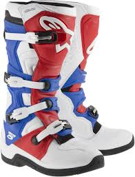 mens motocross boots alpinestars tech 5 mens mx boots white red blue all sizes ebay