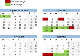 calendar international school