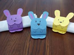 easter napkin rings easter craft ideas easter bunny napkin holder from construction paper