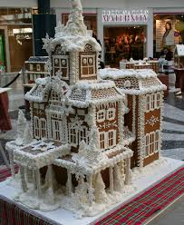 the fourth annual gingerbread house display at the shops at