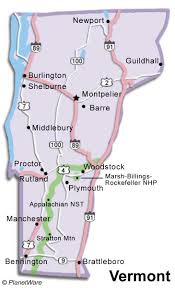 Map Vermont Vermont Travel Guide Planetware