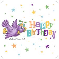 happy birthday animated cute cartoon bird birthday card