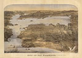 Birds Eye View Map San Francisco Surrounding Country David Rumsey Historical Map