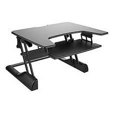 Height Adjustable Standing Desk by Ergotech Freedom Desk Height Adjustable Standing Desk Black Fdm