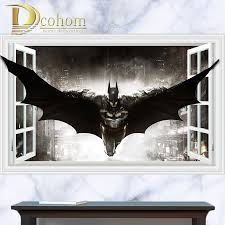 online get cheap awesome wall stickers aliexpress com alibaba group awesome batman super hero series anime poster 3d wall sticker kids room bedroom decoration vinyl wall