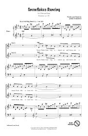 thanksgiving piano sheet music snowflakes dancing sheet music direct