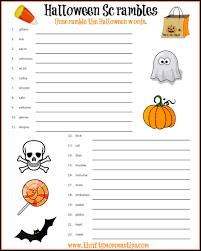 halloween word scrambles printable sheet free printables