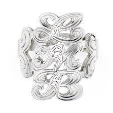 monogram rings sterling silver sterling silver monogram script ring jewelry