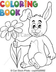 eps vectors coloring book easter bunny flower eps10