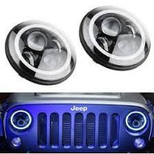 wrangler cj 40w high power cree 7 inch round led headlights