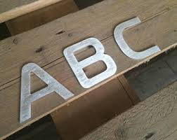 small metal letters etsy
