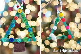 make a popsicle stick tree ornament