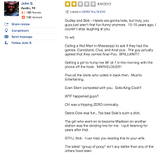 Im Sofa King We Todd Did Jokes by Rating Our 15 Worst Yelp Reviews Klbj 93 7 Fm Austin U0027s Rock