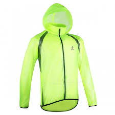 fluorescent cycling jacket arsuxeo ultrathin men s cycling rain jacket fluorescent green xl
