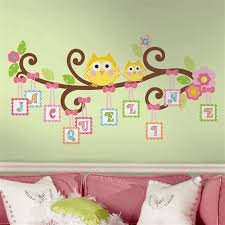 Letter Wall Decals For Nursery Owls On A Tree Wall Decals For Rooms And Baby Nursery