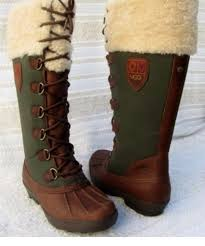 ugg sale edmonton ugg edmonton green brown lace up waterproof knee high side zip