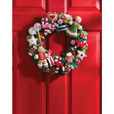 bucilla kits bucilla 15 in cookies and candy felt applique wreath