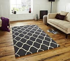 Rugs Home Decor Wave Design Tufted 100 Wool Rug Contemporary Home Decor