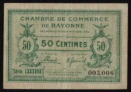 chambre du commerce bayonne chambre de commerce annonay 50 centimes 1917 f f 0 70
