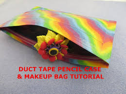 diy easy duct tape pencil pouch u0026 makeup bag how to do tutorial