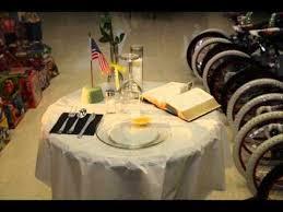 army fallen comrade table script memorial table ceremony wmv youtube