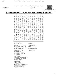 word search send bmac down under